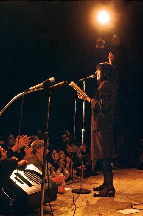 Patti Smith reading 78tiny